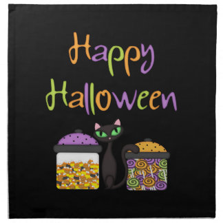 Halloween Candy Black Cat Napkin