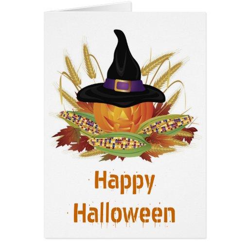 Halloween Carved Pumpkin Card