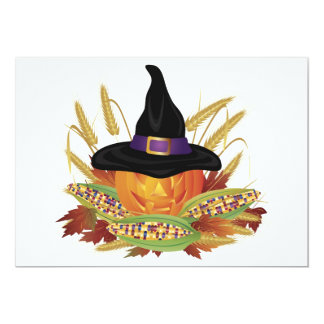 Halloween Carved Pumpkin Invitation