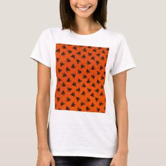 Halloween Cat Pattern T-Shirt