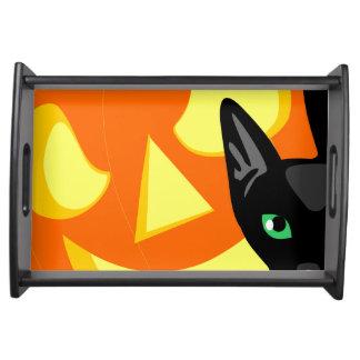 Halloween Cat Pumpkin tray