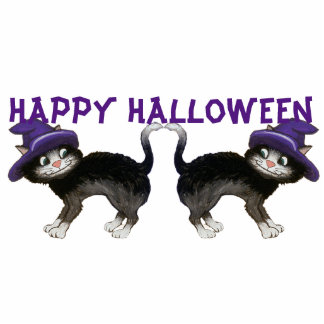 Halloween Cats Standing Photo Sculpture