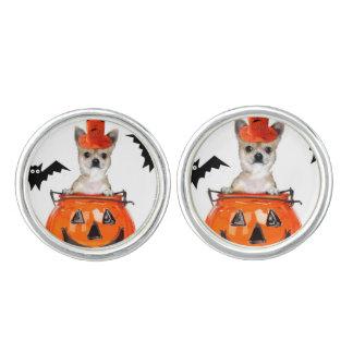 Halloween chihuahua dog cuff links