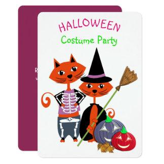 Halloween Costume Party Editable Cute Fun Card