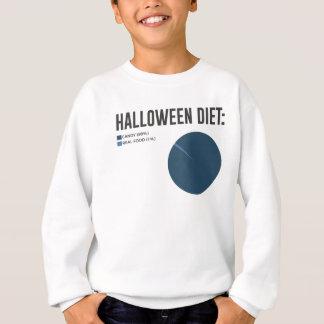 Halloween Diet Sweets Treats and Candy Design Sweatshirt