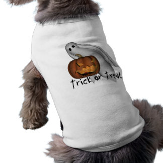 Halloween Dog Tee, Trick or Treat Sleeveless Dog Shirt