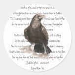 Halloween, Edgar Allen Poe, Raven, Nevermore Round Sticker