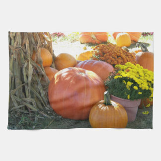 Halloween Fall Scene Tea Towel