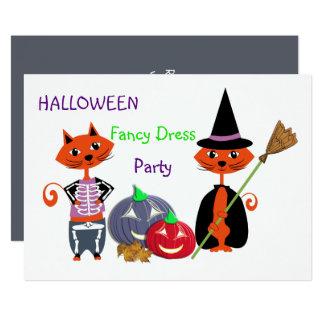 Halloween Fancy Dress Editable Cute Fun Party Card