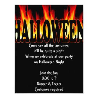 Halloween Flame Invitation