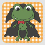 Halloween Frog Dracula Square Sticker