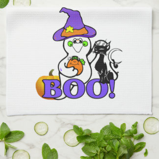 Halloween Ghost Boo Tea Towel