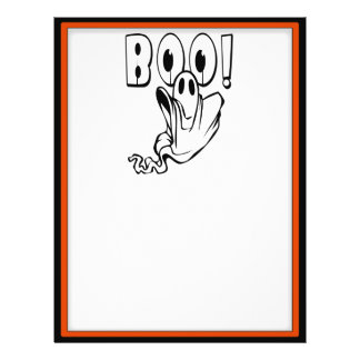 "Halloween Ghost says ""BOO!"" Flyer"