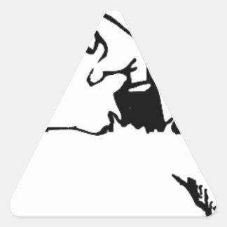 Halloween Grave Triangle Sticker