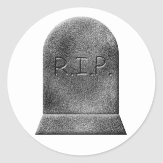 Halloween gravestone rip sticker