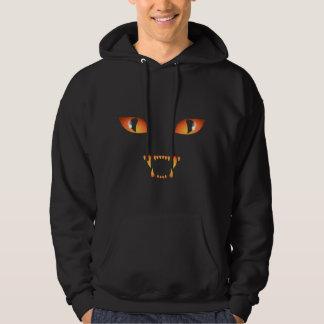 Halloween Hoodie Black Cat Hooded Sweatshirt