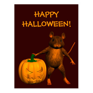 Halloween House Mouse Postcards