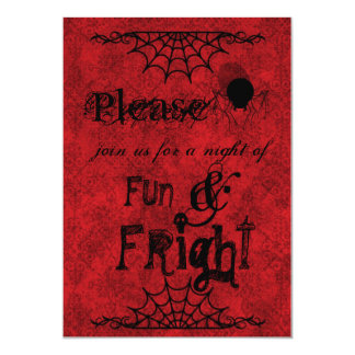 Halloween Invites in Crimson