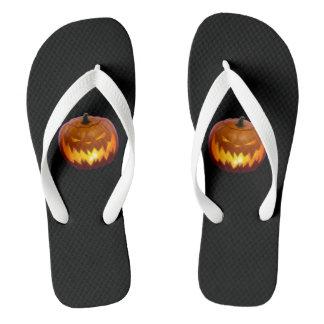 Halloween Jack-o-lantern flipflops!!! Thongs