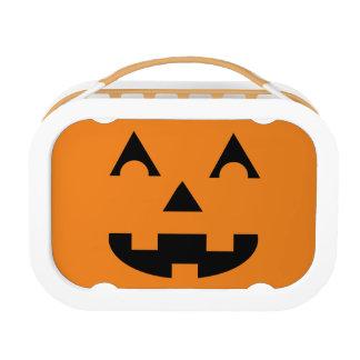 Halloween Jack O Lantern Pumpkin Face Lunch Box