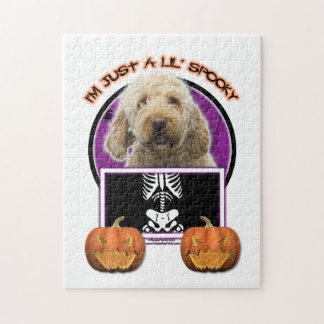 Halloween - Just a Lil Spooky - GoldenDoodle Jigsaw Puzzle