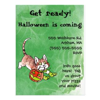 Halloween Kitty Party Invitation Flyer