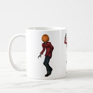 Halloween man with pumpkin head mud classic white coffee mug