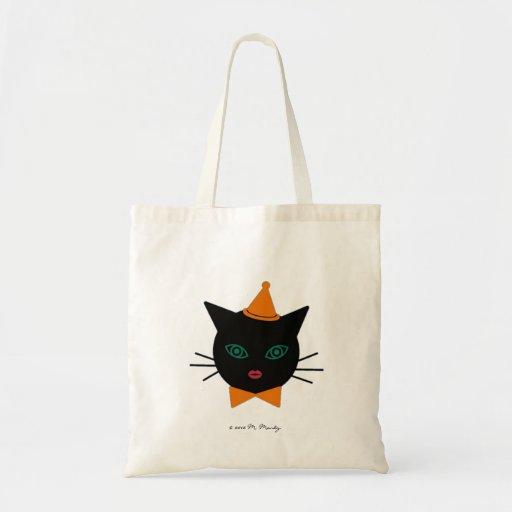 Halloween Martzkin Black Cat Treat Tote Tote Bags