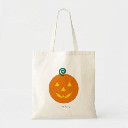 Halloween Martzkin Jack-O-Lantren Treat Tote Bags