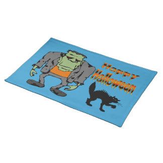 Halloween Monster - Black Cat  Placemats