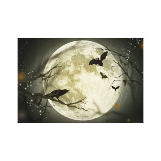 Halloween Moon. Stretched Canvas Print