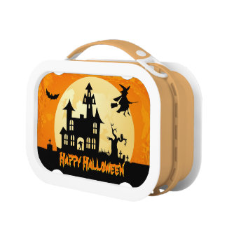 Halloween Moonlight Scary Haunted House Graveyard Lunch Boxes