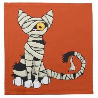 Halloween Mummy Cat Napkin