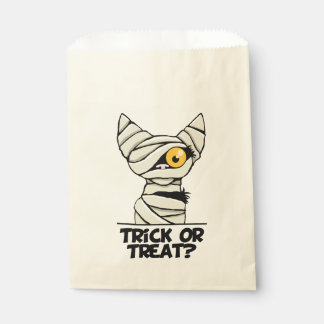 Halloween Mummy Cat Trick or Treat Favor Bags Favour Bags