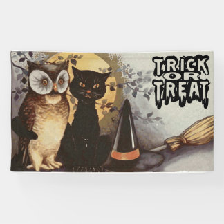 Halloween Owl, Black Cat and Witch's Hat-For Kids