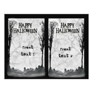 Halloween Party Invitation Double Sided Flyer