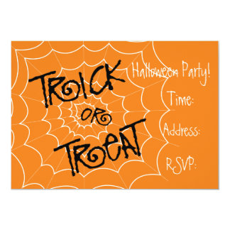 Halloween party Trick or Treat invitations