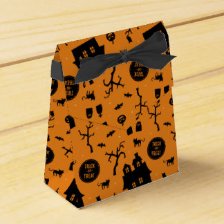 Halloween Party Trick or Treat Pattern Favor Boxes