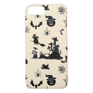 Halloween pattern with pumpkins bats witches iPhone 7 case