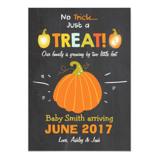 Halloween  pregnancy announcement Trick or Treat