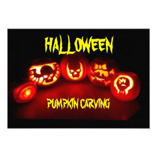 Halloween Pumkin carving invite