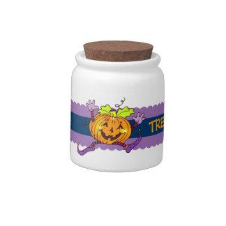 Halloween Pumkin Treats Candy Jars