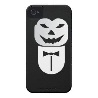 Halloween Pumpkin Businessm Head iPhone 4 Cases