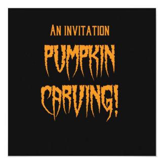 Halloween Pumpkin Carving Card