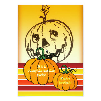 Halloween Pumpkin Carving Party Jack O Lantern Personalized Invitation