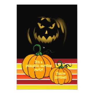 Halloween Pumpkin Carving Party Jack O Lantern 5x7 Paper Invitation Card