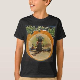 Halloween Pumpkin Cat T-Shirt