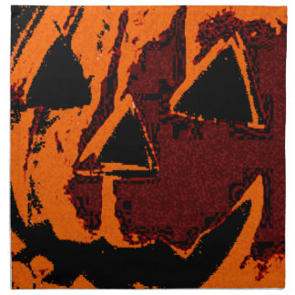 Halloween Pumpkin - grunge style + your ideas Napkin