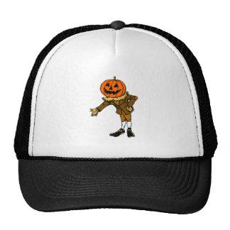 Halloween Pumpkin Head Cap