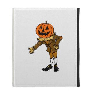 Halloween Pumpkin Head iPad Folio Cover